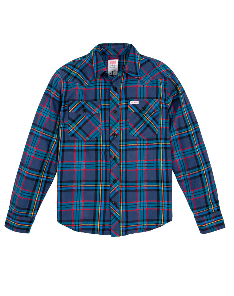 Mountain Shirt in Royal / Navy Plaid | Topo Designs