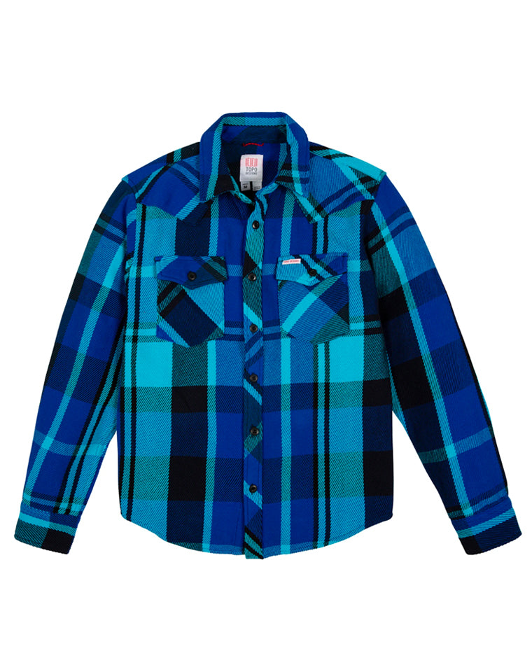 Heavyweight Mountain Shirt in Royal / Navy Plaid | Topo Designs