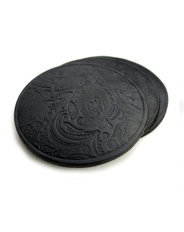 Paisley Leather Coasters