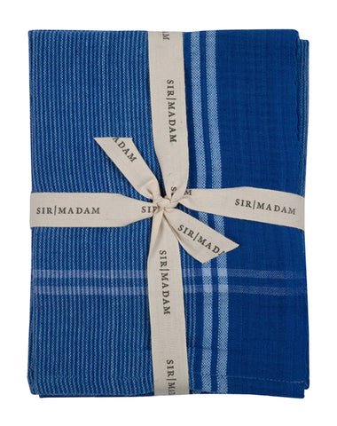 Found Cotton Cloths in Blue Pinstripe