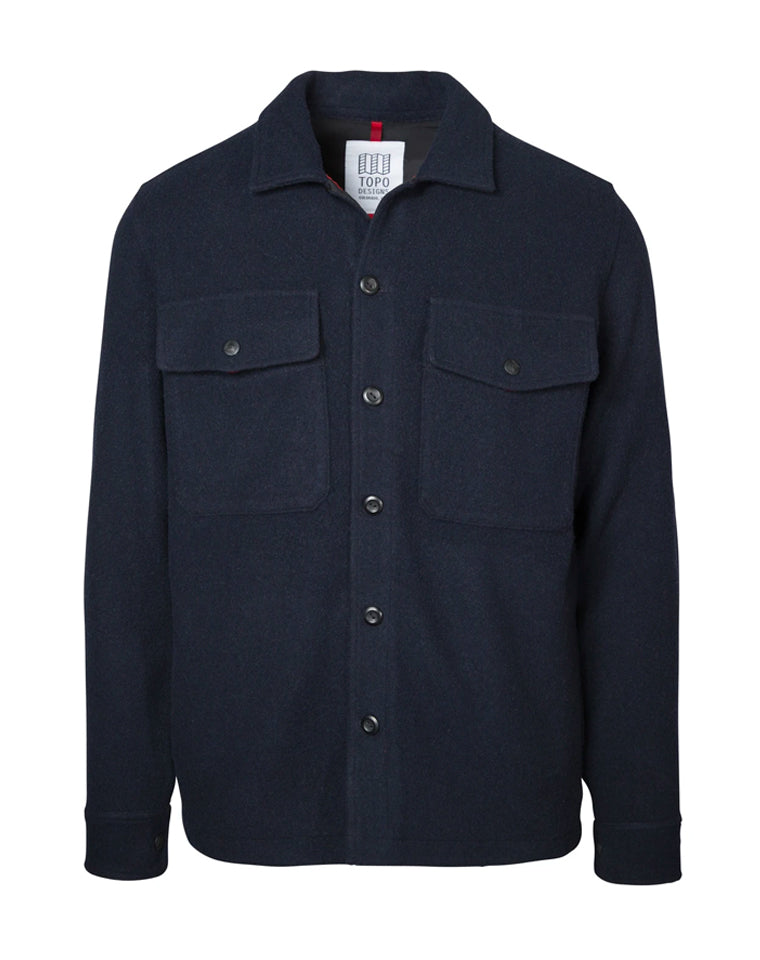 Wool Shirt in Navy | Topo Designs