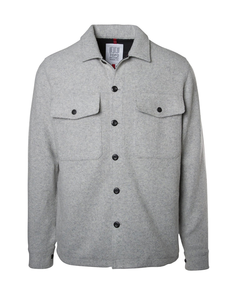 Wool Shirt in Gray | Topo Designs
