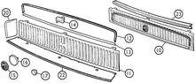 Load image into Gallery viewer, mgb-1317 Front grille 1970-1972 5 piece