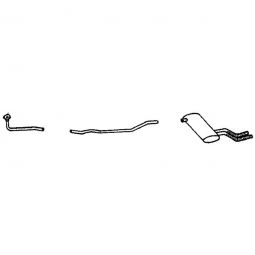 tr6-BELL-3 TR6 3 PIECE STAINLESS STEEL EXHAUST SYSTEM 1969-72