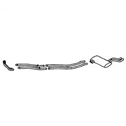 tr6-BELL-6 TR6 6 PIECE DUAL EXHAUST SYSTEM STAINLESS STEEL 1972-76
