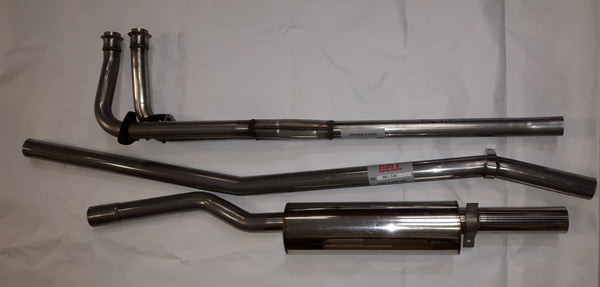 MGB-MG193 STAINLESS STEEL 1962-74  SPORT EXHAUST SYSTEM 3 PIECE