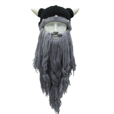 Bonnet à barbe de vikings - Gris Clair