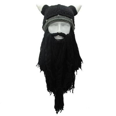 Bonnet à barbe de vikings - Noir