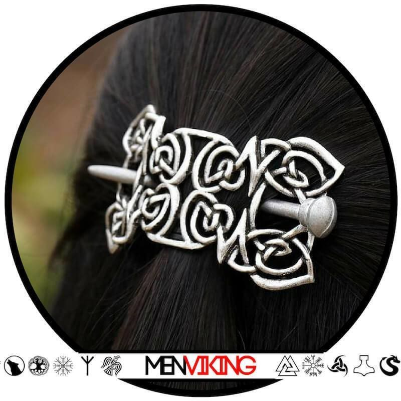 Broche / épingle à cheveux celtique & viking - Brazalete vikingo