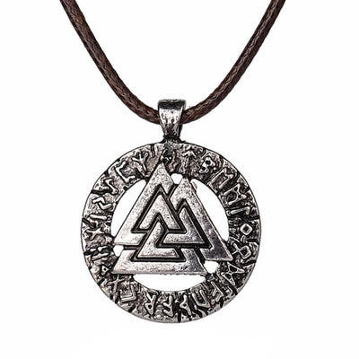 Collar vikingo Valknut antiguo