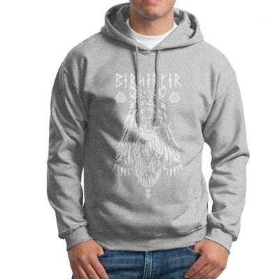Sweat-Shirt Viking - Berserker - Gris / M - sweat viking