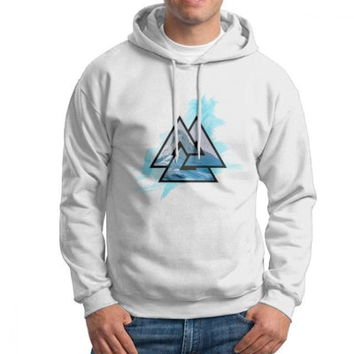 Sweat-Shirt Viking - Valknut - Blanc / L - sweat viking