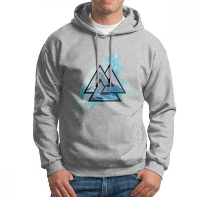 Sweat-Shirt Viking - Valknut - Gris / XXL - sweat viking