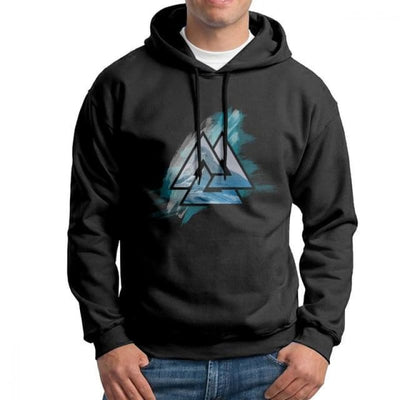 Sweat-Shirt Viking - Valknut - Noir / L - sweat viking