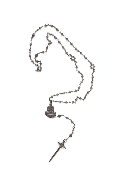 FUTURE SONG ROSARY SILVER OXIDIZED , Necklace - PEOPLE ARE STRANGE, PEOPLE ARE STRANGE  - 4