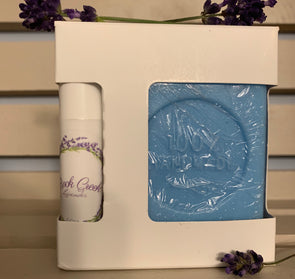 Lavender Lip Balm and Soap Gift Set