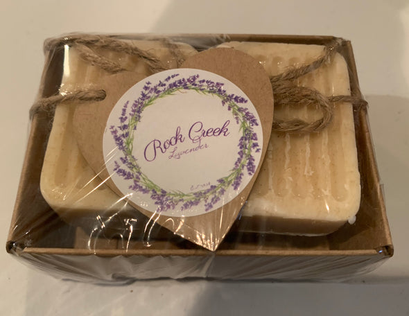 Tray of 4 Oatmeal Guest Soaps