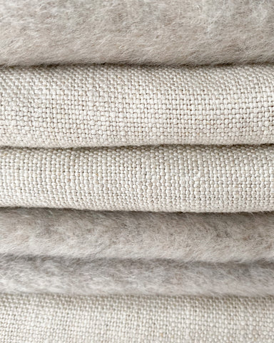 Natural Fabrics, linen and mohair, eco friendly