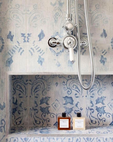 Vintage italian and french style bathroom shower