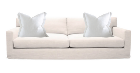 fringe pillows , modern style on couch