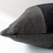 Load image into Gallery viewer, Monochromatic Black Linen and Mohair Pillow