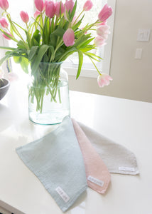 Pastel dish cloths.  Wont smell over time due to antibacterial elements.  A perfect addition for spring