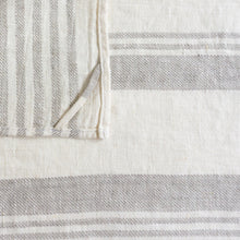 Load image into Gallery viewer, Multiple Striped Neutral Stripe Linen Tea Towel