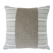 Load image into Gallery viewer, Coastal Grey Striped Linen & Mohair