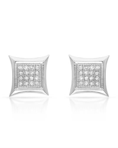 Lundstrom Brand New Earring with 0.15ctw diamond 10K White gold