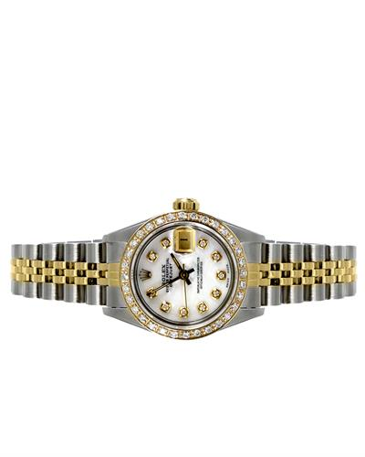 Rolex 6917 PreOwned Automatic date Watch with 0.9ctw of Precious Stones - diamond and mother of pearl