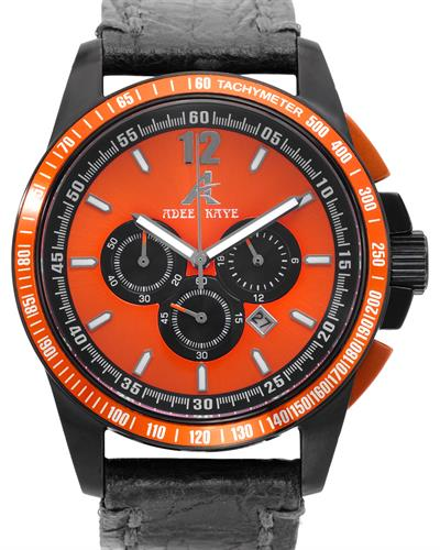 Adee Kaye ak7141-MLB/BK-OR Brand New Quartz date Watch