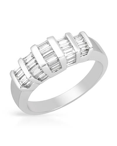 Brand New Ring with 1.13ctw diamond 14K White gold