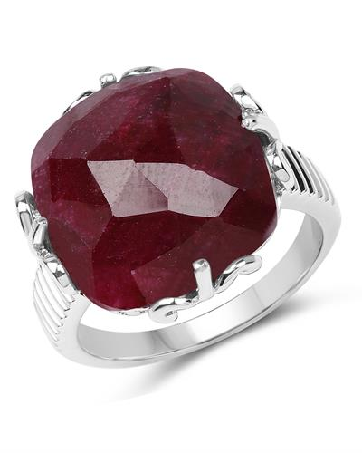 Brand New Ring with 13.65ctw ruby 925 Silver sterling silver