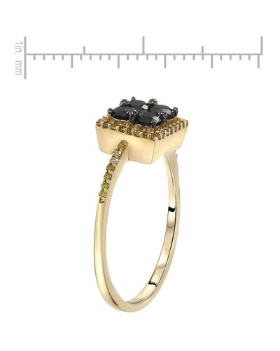 Lundstrom Brand New Ring with 0.6ctw of Precious Stones - diamond and diamond 10K Yellow gold