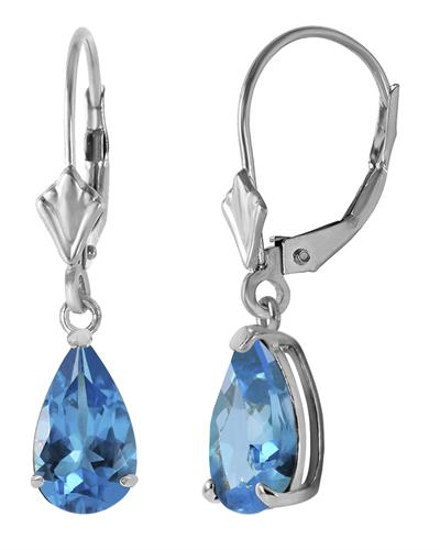Magnolia Brand New Earring with 3.77ctw topaz 14K White gold