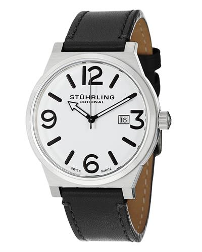STUHRLING ORIGINAL 454.33152 Aviator Brand New Swiss Quartz date Watch