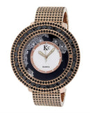 KC WA009407 Brand New Quartz Watch with 0ctw cubic zirconia