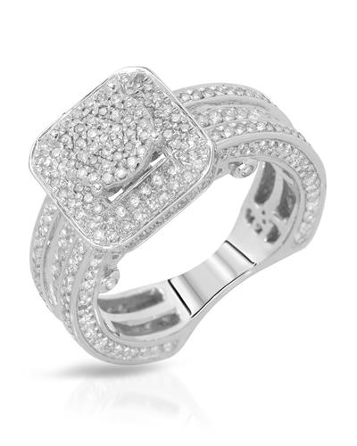 Brand New Ring with 1ctw diamond 10K White gold