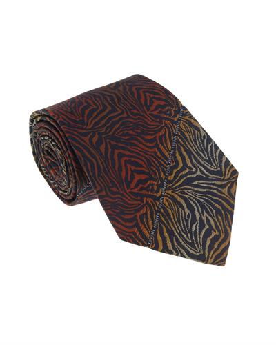 Roberto Cavalli ESZ021 01500 Brand New Tie  Orange Silk