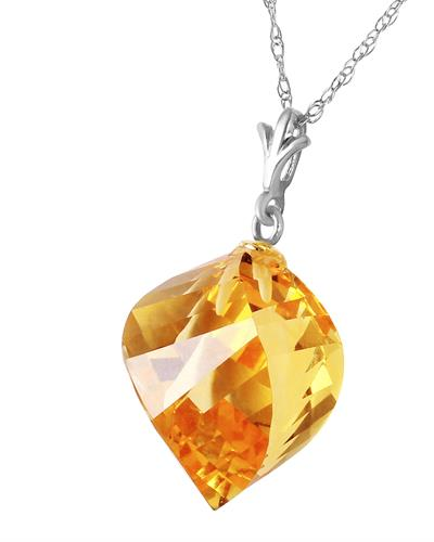 Magnolia Brand New Necklace with 11.75ctw citrine 14K White gold