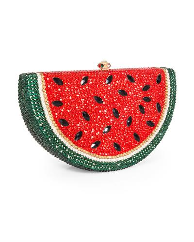 Dolli Watermelon Wedge Brand New Clutch with 0ctw crystal  Gold base metal