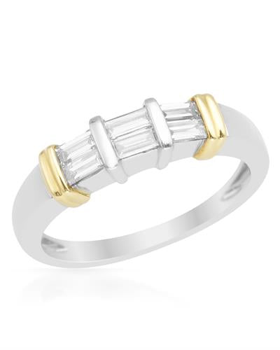 Brand New Ring with 0.4ctw diamond 900/18K Two tone platinum and gold