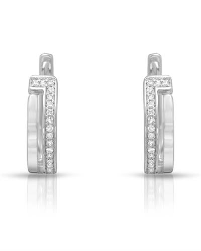 Whitehall Brand New Earring with 0.09ctw diamond 14K White gold
