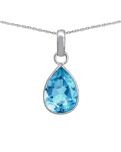 Brand New Necklace with 3.1ctw topaz 925 Silver sterling silver