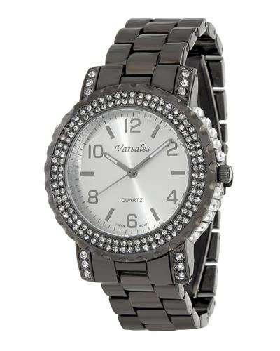 Varsales Brand New Japan Quartz Watch with 0ctw crystal