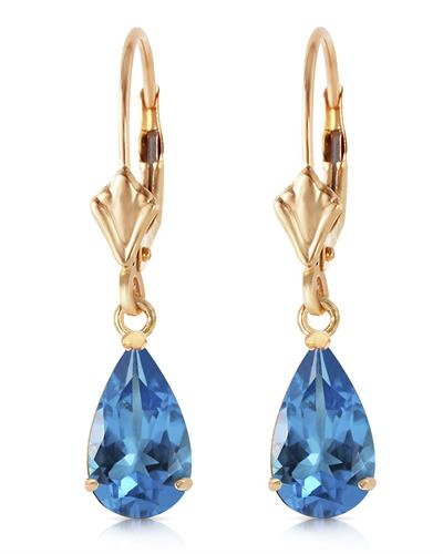 Magnolia Brand New Earring with 3.77ctw topaz 14K Yellow gold