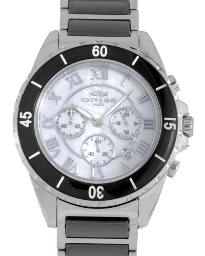 Oniss ON8500-66 PARIS Brand New Japan Quartz multifunction Watch with 0ctw mother of pearl