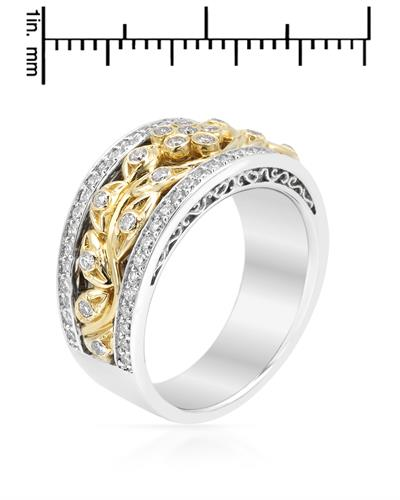 Brand New Ring with 0.76ctw diamond 14K Two tone gold