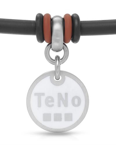 TeNo Brand New Charm  White ceramic and  Two tone rubber