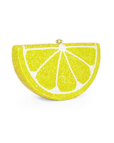 Dolli Lemon Wedge Brand New Clutch with 0ctw crystal  Gold base metal